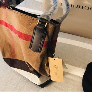 Burberry Bags - BURBERRY Canvas Mega Check Medium Maidstone